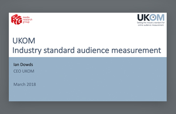 Industry standard audience measurement
