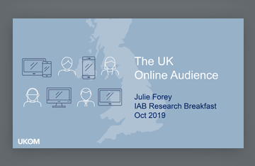 IAB UK Research Breakfast - October 2019